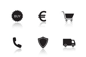 Online marketing icons. Vector
