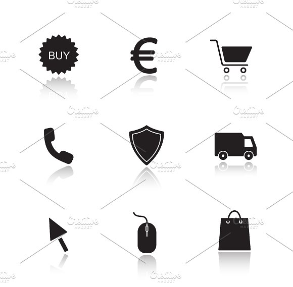 Online marketing icons. Vector - Icons