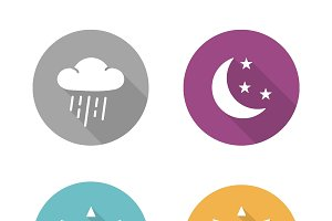 Times of day icons. Vector