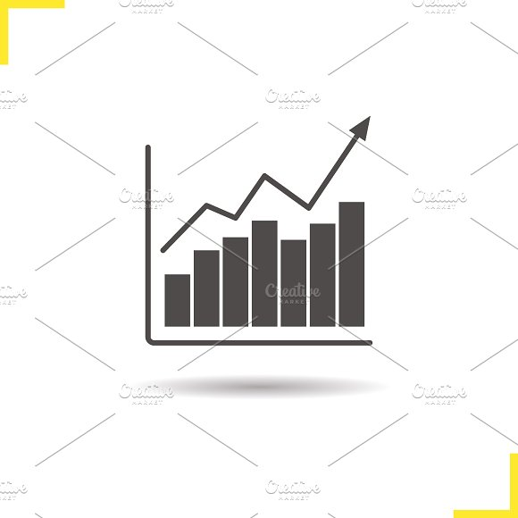 Growth chart icon. Vector - Icons