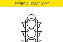 Traffic light linear icon. Vector