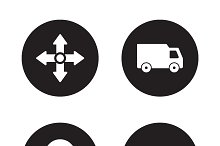 Delivery service icons. Vector