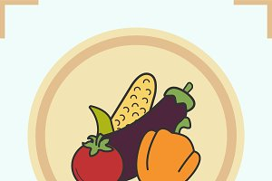 Vegetables color icon. Vector