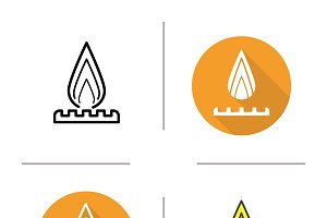 Gas burner icon. Vector