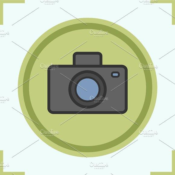 Photo camera color icon. Vector - Icons