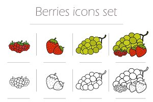 Berries icons set. Vector