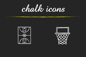 Basketball icons set. Vector