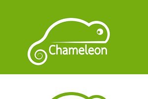 Vector image of chameleon design