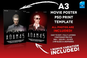 A3 - Movie Poster Print Template 6