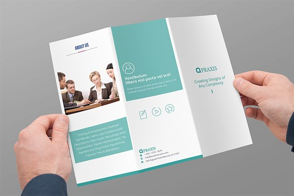 tri fold brochure business brochure templates creative market