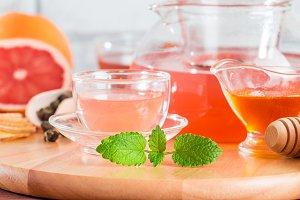 Grapefruit herbal tea