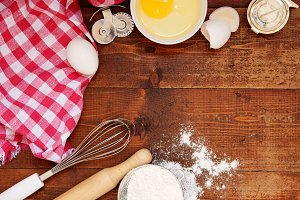 Tools and Ingredients for baking