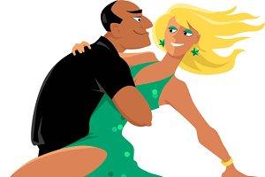 Salsa club dansers