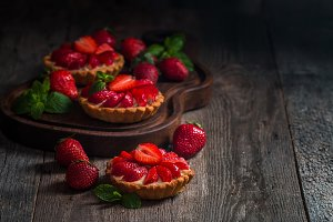 Fresh homemade berrie tarts