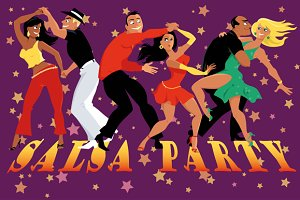 Salsa party poster