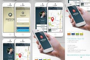 Flat Mobile App Kit | App Idea