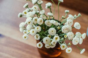Styled White Wildflowers