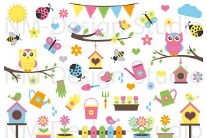 Garden Clipart Set - Vector Graphics