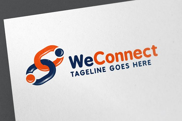 We Connect Logo Template