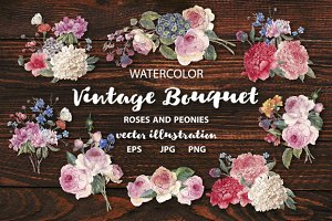 Vintage bouquet collection