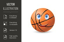 Happy basketball ball