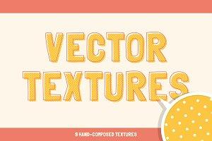 Vector handmade textures.