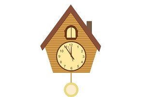 Cuckoo clock vector illustration