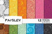 Paisley - Digital Papers