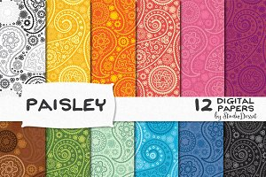 Paisley - Digital Papers