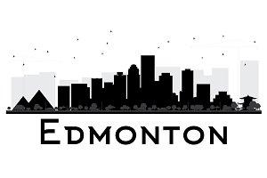Edmonton City Skyline Silhouette