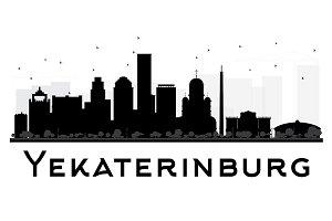 Yekaterinburg Skyline Silhouette