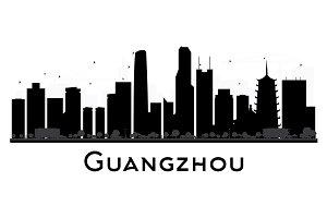 Guangzhou City Skyline Silhouette
