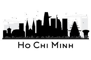Ho Chi Minh City Skyline Silhouette