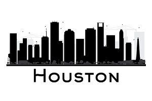 Houston City Skyline Silhouette