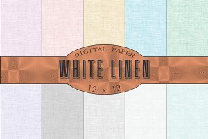White linen textures, backgrounds