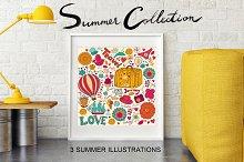 3 Funny Summer Illustrations