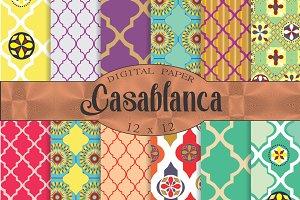 Moroccan digital paper 'Casablanca'