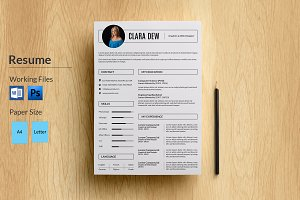 3 Page Resume Template-V025