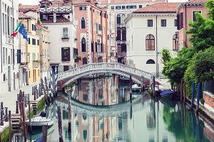 Bridge over canal in Venice