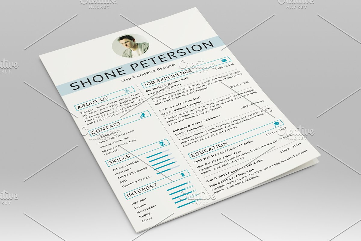 Simple Resume Template-V026