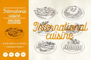 International cuisine illustrations