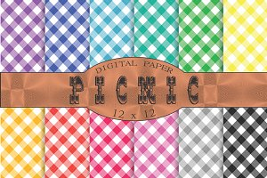 Gingham patterns 'Picnic'