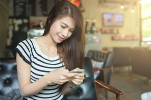 woman use a smart phone