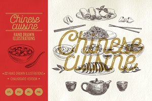 Chinese cuisine illustrations