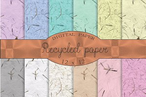 Recycled paper textures, rustic