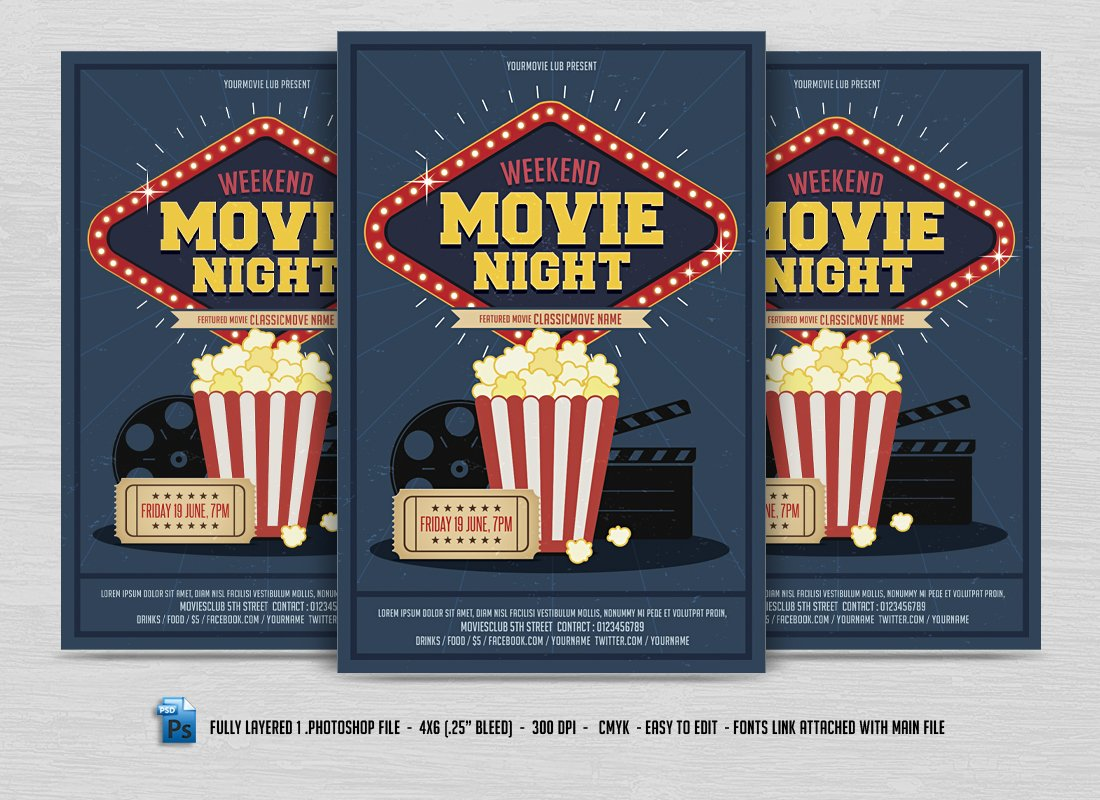 Movie night flyer maxwellsz