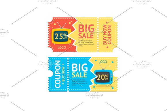 Coupon Sale. Vector - Illustrations