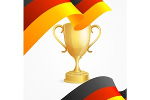 Germany Winning Cup Concept
