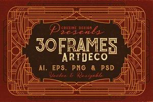 30 ArtDeco Frames