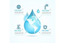 Water Globe Infographic Eco